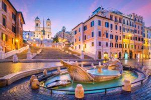 Piazza di Spagna a Roma